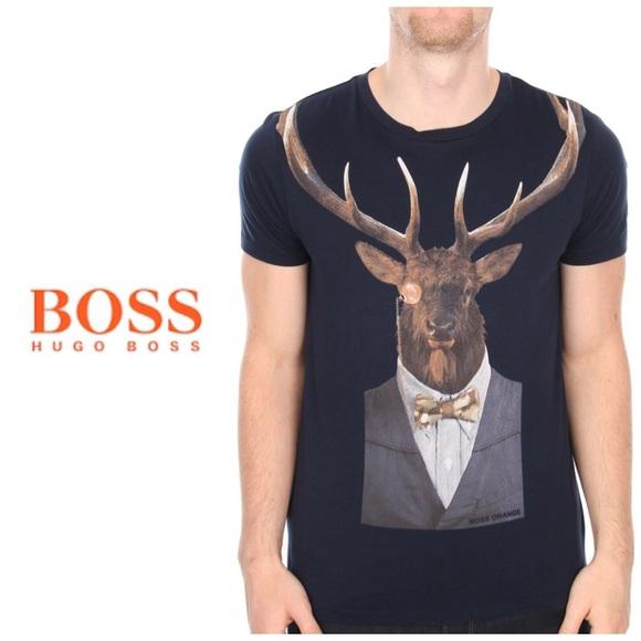 29e85d685 Hugo Boss Other - Hugo Boss Orange Touchdown 4 t-shirt - deer print
